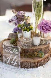 Rustic Stacked Wood Centerpiece Perfect For Lovers I Love How Earthy And Woodsy This Looks If You Are Having A Or