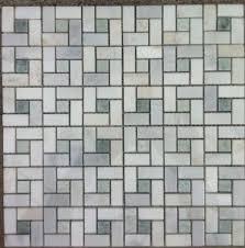 bianco carrara white marble polished pinwheel mosaic tile with