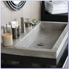 Trough Bathroom Sink With Two Faucets Canada by Trough Bathroom Sinks Canada Thedancingparent Com
