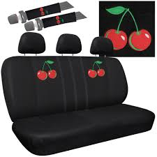 Oxgord Trim 4 Fit Floor Mats by 21pc Red Cherry Cherries Seat Covers Set Floor Mats Car Suv