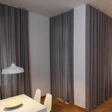 blickdichter grauer vorhang nach maß esszimmer modern