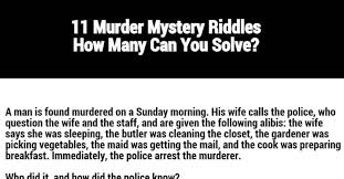 11 Murder Mystery Riddles How Many Can You Solve