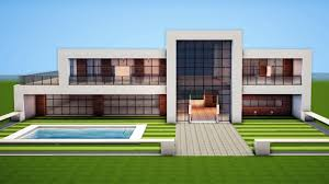 100 A Modern House Minecraft How To Build A Easy Tutorial YouTube
