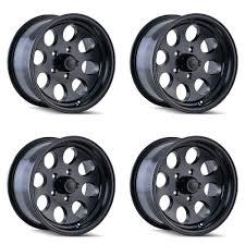 100 8 Lug Truck Wheels Set 4 17 Ion 171 Matte Black 17x9 X170 0mm Ford F250 F350