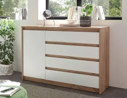 sideboard wohnzimmer kommode eiche kraft gold weiß matt 137cm