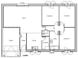 plan maison plain pied gratuit 3 chambres plan maison 100m2 plein pied 3 chambres trendy plan maison plain