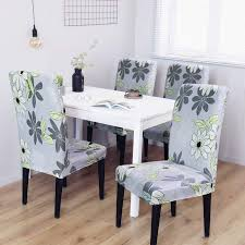 Clothman Washable Dining Chair Covers Set Of 4 Printed High Elasticity  Chair Slipcovers Removable Parsons Chair Covers For Dining Room, Flowery Ding Room Chair Covers From Pillowcases Jackie Home Ideas Serta Reversible Stretch Suede Slipcovers Short Skirt Parsons Chair Slipcovers Miss Mustard Seed Decor Beautiful Parsons Hd For Your Clothman For Printed Elastic Antistain Removable Washable Fniture Protector Linen Uk Chairs Kitchen And Tie Back And Corseted A Fun Way To Dress Up Sew Design Teal How Make A Custom Slipcover Hgtv Slipcover Tutorial How Make Set Of 2 High Elasticity Flowery