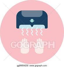 eps vektor flache blau trockner symbol