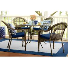 Lowes Canada Outdoor Dining Sets by Shop Garden Treasures Severson Textured Black Steel Woven Patio