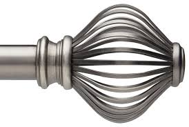 Umbra Cappa Curtain Rod Pewter by Modern Curtain Rods Interior Design