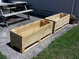 pallet planter box plans vertical free pallet planter box plans