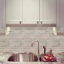 tribeca glacier strip glass mosaic kitchen backsplash option