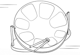 Click To See Printable Version Of Steel Drum Coloring Page