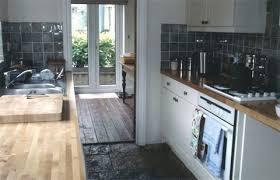 Victorian Cottage Shaker Style Galley Kitchen Renovation