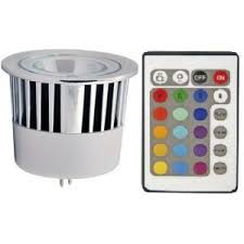 rgb multi color changing led light bulb mr16 5w remote