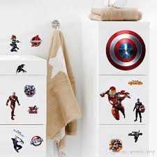 the avengers cartoon diy captain america wall stickers for kids