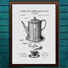 But First Coffee Patent Print Art Quote Wall