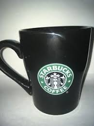 Image Is Loading Starbucks Coffee Mug Black Ceramic Cup From 2008