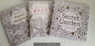 Johanna Basford Coloring Books Secret Garden Tropical Wonderland Animal Kingdom With Pencil Free Printable Colouring For Adults
