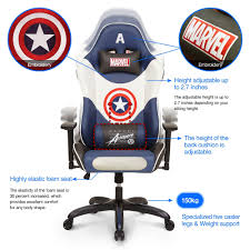 Licensed Marvel Avengers Captain America Superhero Ergonomic ... Managerial Office Chair Conference Room Desk Task Computer Mesh Home Warmrest Ergonomic Lumbar Support Swivel Adjustable Tilt Mid Back Fully Meshed Ergo Black Essentials By Ess202 Big And Tall Leather Executive Star Products Progrid The Best Gaming Chairs In 2019 Gamesradar Cozy Heavy Duty Chairs Jherievans Mainstays Vinyl Multiple Colors Secretlab Neuechair Review An Attractive Comfortable Contemporary Midback Plush Velvet