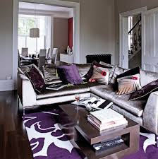 Gray Purple Living Rm Eclectic Room