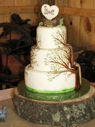 Hand Painted Tree Cake