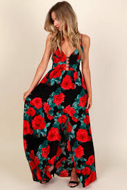 n u0027 shine print maxi dress black red