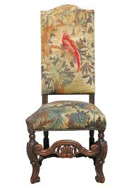 Set Of Six 19th Century Carved Oak High Back Tapestry Dining Chairs