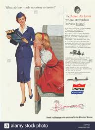 1950s USA United Airlines Magazine Advert