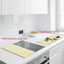 decorwelt herdabdeckplatten 2x30x52 cm ceranfeldabdeckung 2