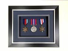 Black And Silver 3d Deep Box Frame To Display War Military Sports Medals