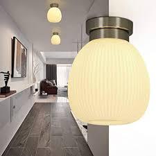 zmh deckenle vintage deckenleuchte flur e27 aus glas weiße schlafzimmerle moderne flurle wohnzimmerle kronleuchter 1 flammig für flur