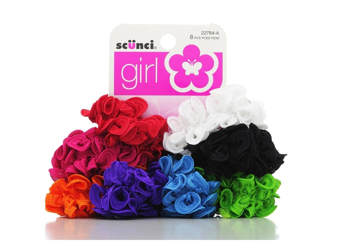 Scunci Girl Scrunchies - Assorted Colours, 8 Pack