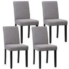 Dining Chair Set Of 4 Elegant Design Modern Fabric Upholstered Dining Chair  For Dining Room Grey - Walmart.com Edwalton Ding Chair Grey Velvet Faux Leather Barker Stonehouse Curran Set Of 2 Modern Large Comfy Thick Padded Luxury Med Chairs Four 1970s Chrome And Charcoal Romance 18m Table With 4 Chanel Volcanic Gray Silver Of Elegant Design Fabric Upholstered For Room Walmartcom Bellini Linen With Natural Oak Leg Graydingchairs Interior Ideas Two Barcelona