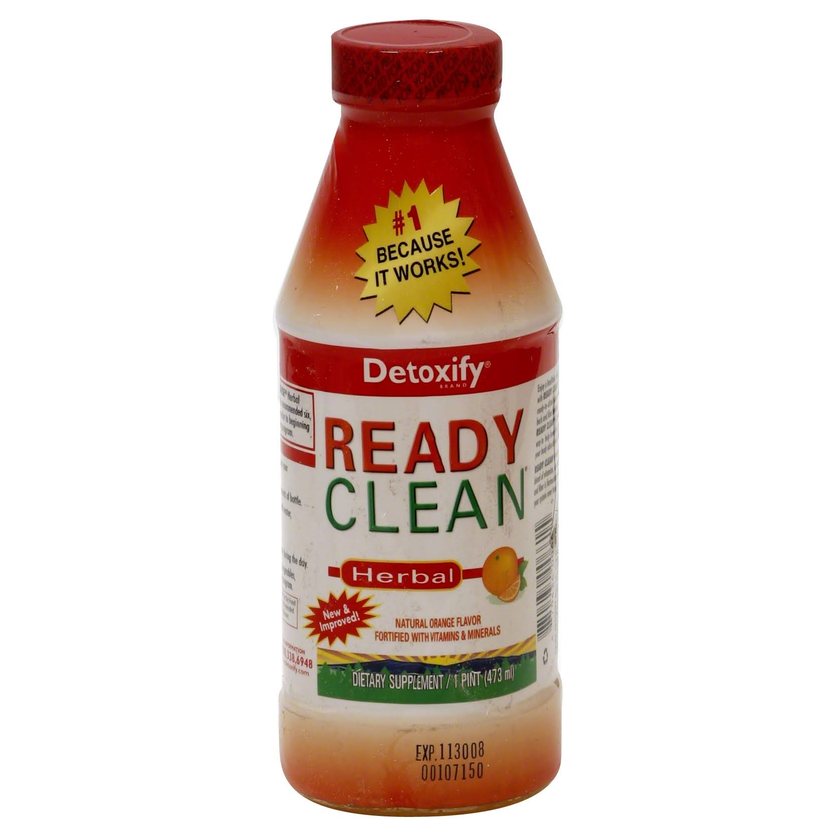 Detoxify One Source Brand Ready Clean Herbal Cleanse - Orange, 16oz
