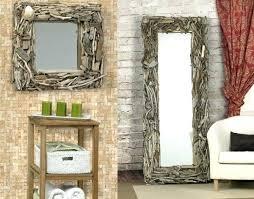 cadre de miroir en bois acco grand miroir mural du bois deco cadre
