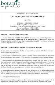 siege social botanic grand jeu questionnaire botanic pdf