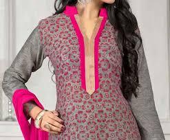 Lace Neck Cotton Salwar Design
