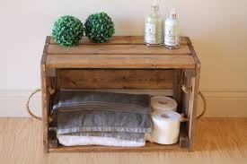 Rustic Wooden Crate Bathroom Storage