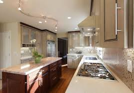 kitchen track lighting home design and decorating
