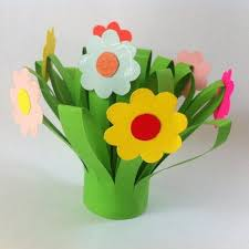 Construction Paper Flowers Ideas Flower Craft For Children