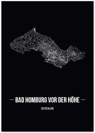 juniwords stadtposter wähle deine stadt bad homburg vor der höhe 21 x 30 cm poster schrift b schwarz