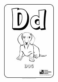 Letter D Coloring Alphabet