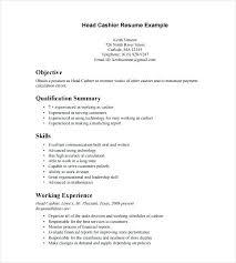 Resume For Fast Food Cashier Download Target
