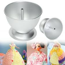 3D Princess Dress Doll Cake Mould Fondant Baking Pan Tin Decorate