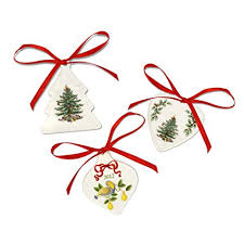 Spode Christmas Tree Ornaments Set Of 3