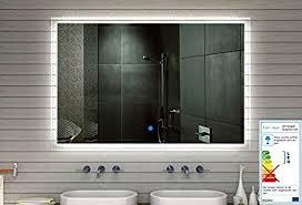 aqua badezimmer spiegel wandspiegel led mit 710 lumen touch schalter lichtfarbton kalt warm einstellbar 60 x 59 cm mf91060