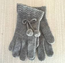 knit pom wool blend gloves marshall shaker unique gifts and