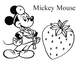 Free Mickey Mouse Coloring Pages For Kids
