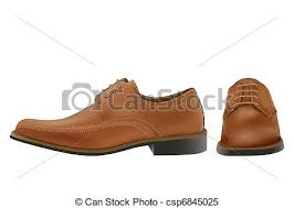 Man Shoes Pair Of Photo Real Brown Oxford In Clipart